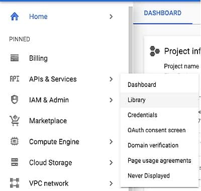 BigQuery APIs & Services library
