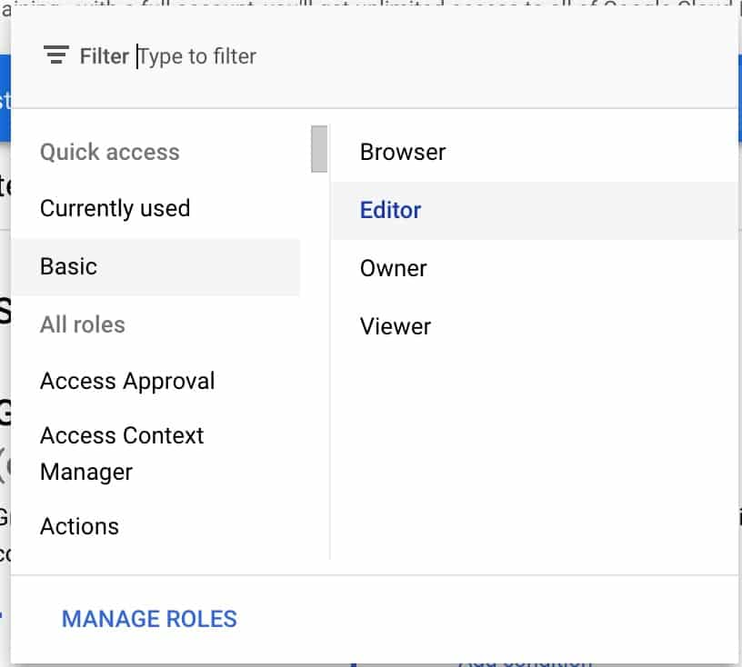 click 'Basic' in the quick access section and choose 'Editor'