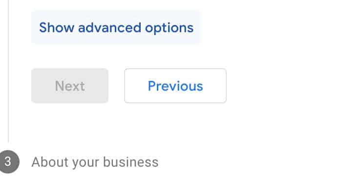 Show advanced options
